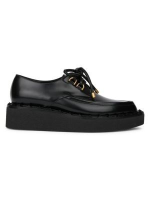 Valentino - Valentino Garavani Rockstud Flair Leather Platform Oxfords
