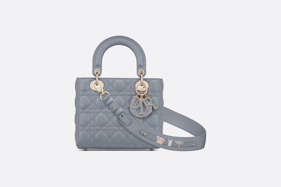 Lady Dior My ABCDior Bag Cloud Blue Cannage Lambskin - Bags - Women's Fashion | DIOR