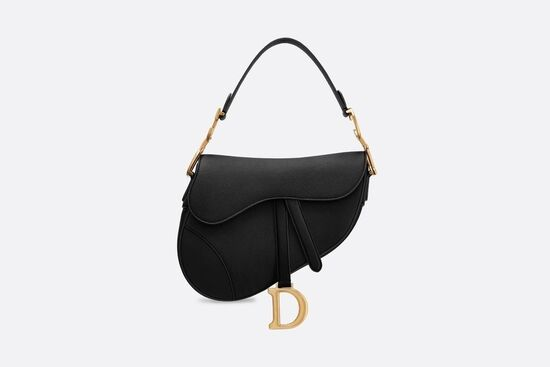 Saddle Bag Black Grained Calfskin - Bags - Women's Fashion | DIOR