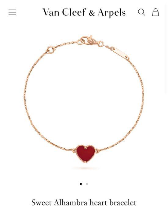 Sweet Alhambra heart bracelet - VCARN59L00 - Van Cleef & Arpels