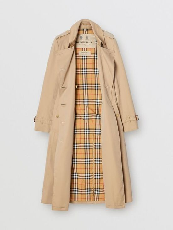 The Long Chelsea Heritage Trench Coat in Honey - Women | Burberry United States
