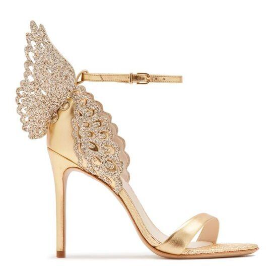 Evangeline Sandal Gold Nappa | Sophia Webster