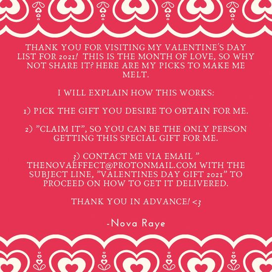 A note from me!