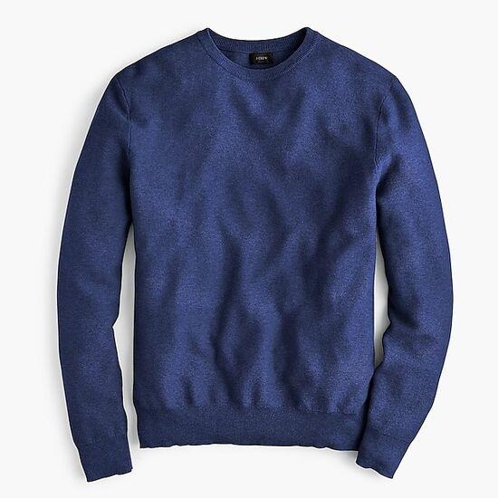 Crewneck sweater in garter stitch  | J.Crew