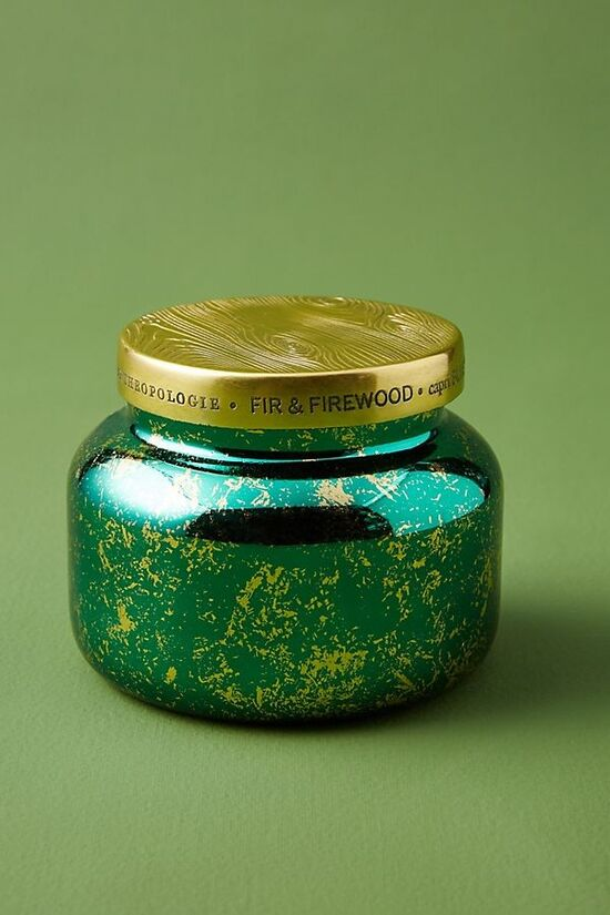 Capri Blue Fir & Firewood Jar Candle