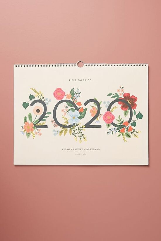 Rifle Paper Co. Wild Rose 2020 Appointment Calendar