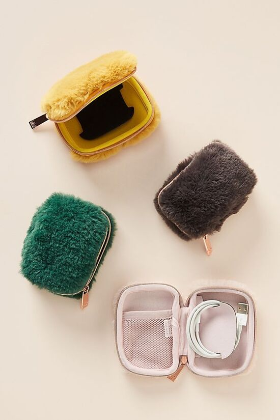 Faux Fur Tech Pouch