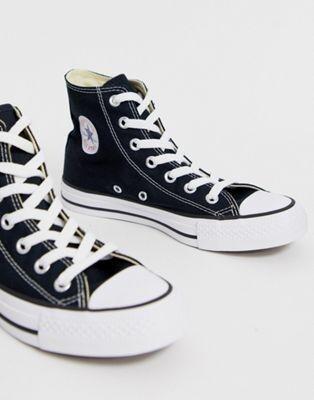Converse Chuck Taylor Hi black sneakers | ASOS