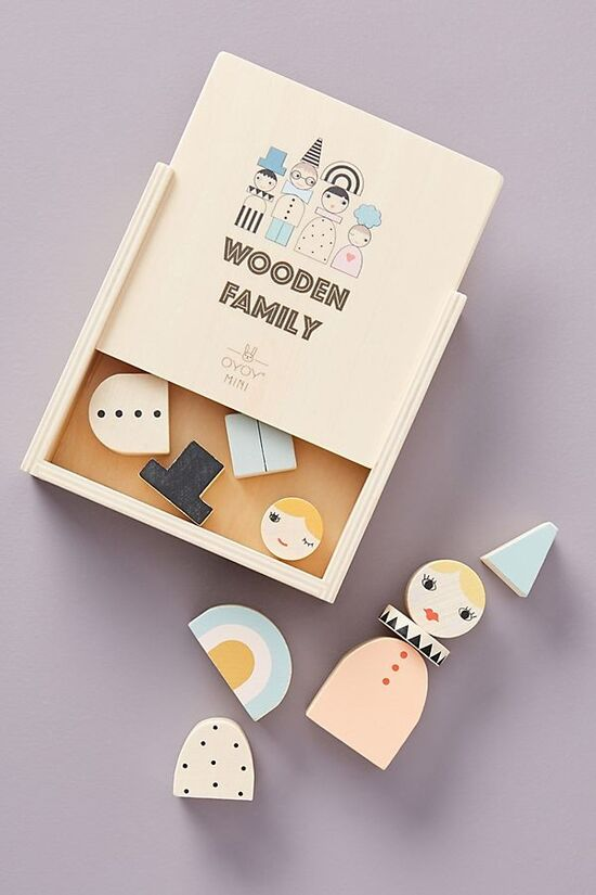 Wooden Family Blocks Toy