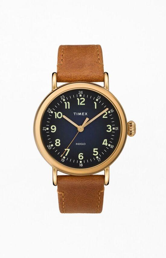 Timex Brown Standard Leather Strap Watch