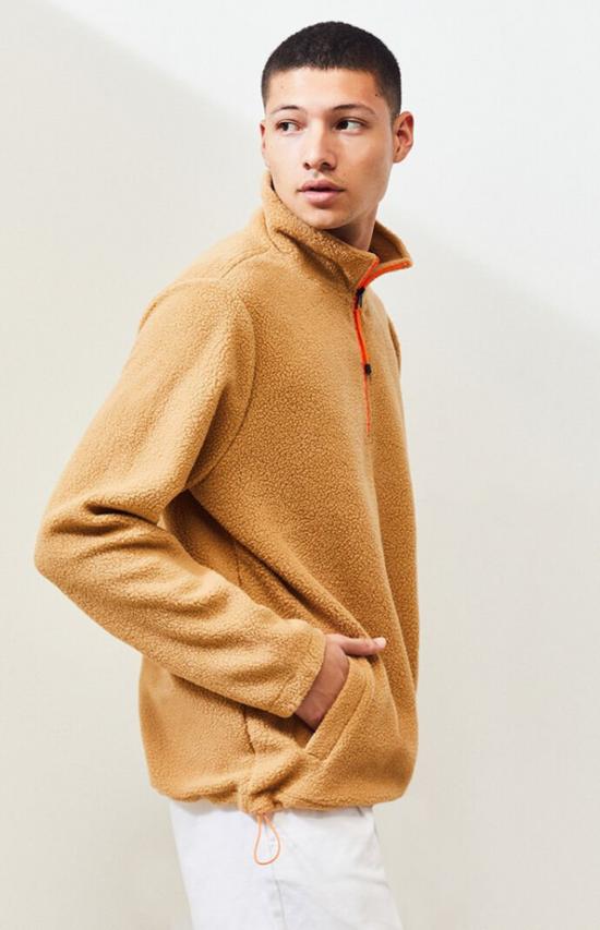 PacSun Prono Half Zip Polar Fleece Pullover