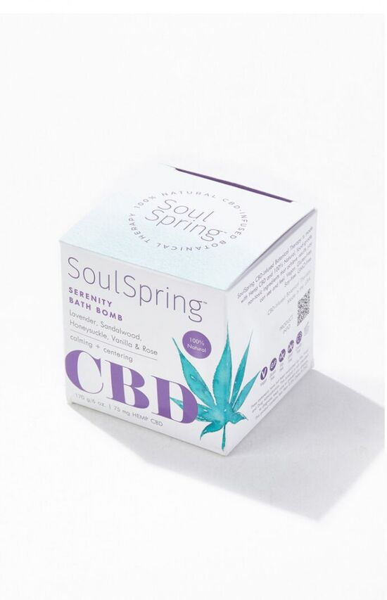 Soul Spring Serenity CBD Bath Bomb