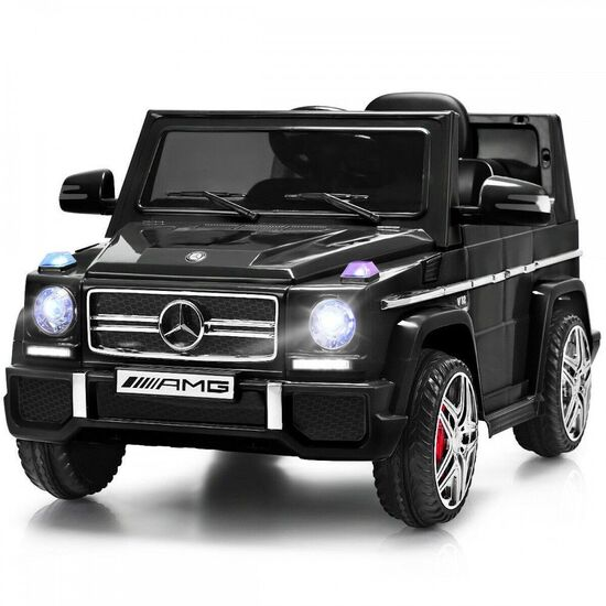 Costway Mercedes Benz G65 Licensed 12V Electric Kids Ride On Car RC Remote Control White\ Black\ Red