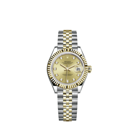 Rolex Lady-Datejust Watch: Yellow Rolesor - combination of Oystersteel and 18 ct yellow gold - m279173-0011