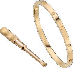 LOVE bracelet, small model, 6 diamonds: LOVE bracelet, small model, 18K yellow gold