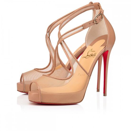 MARIACAR  120 NUDE CREATIVE FABRIC - Women Shoes - Christian Louboutin