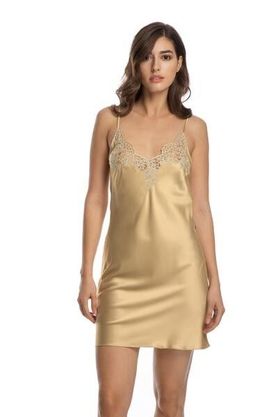 In The Mood For Love Chemise in Gold