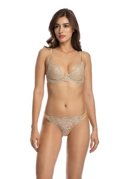 In The Mood For Love Padded Push-Up Bra in Gold