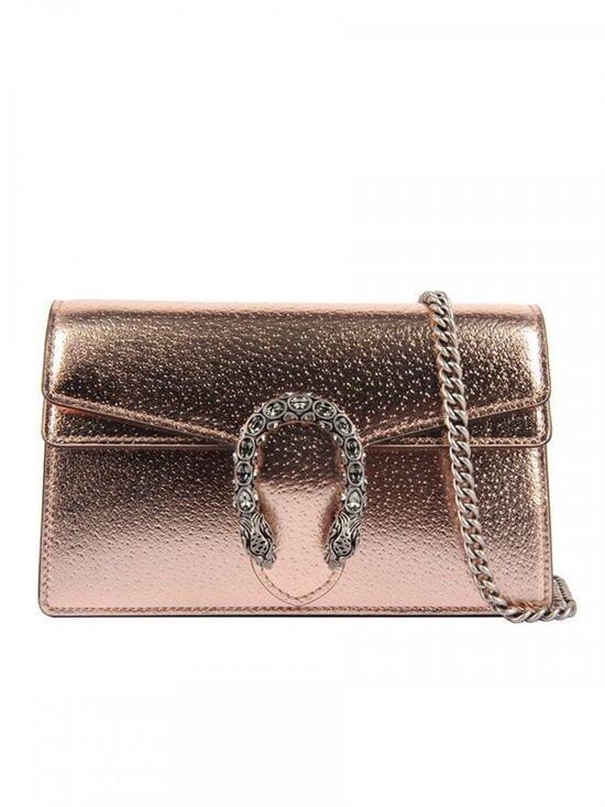 Dionysus Super Mini Bag in Rose Gold