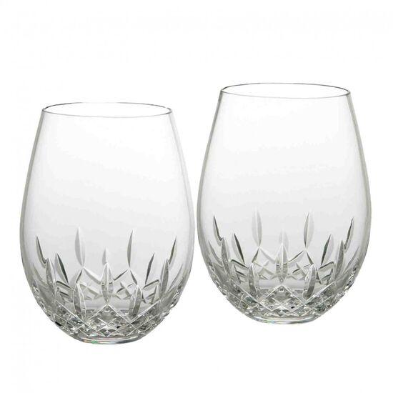 Lismore Essence Stemless Deep Red Wine, Pair | Waterford