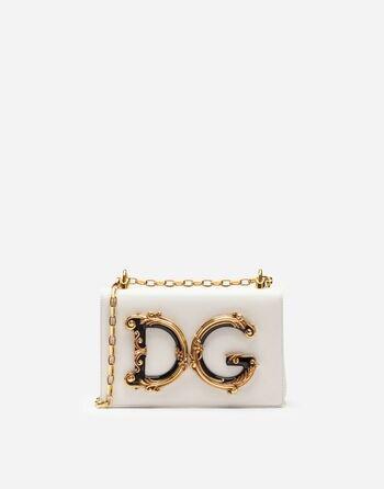 Nappa Leather DG Girls Shoulder Bag - Women's Bags   Dolce&Gabbana