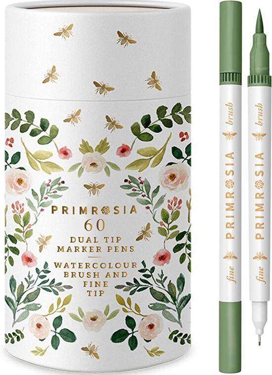 Primrosia 60 Dual Tip Marker Pens