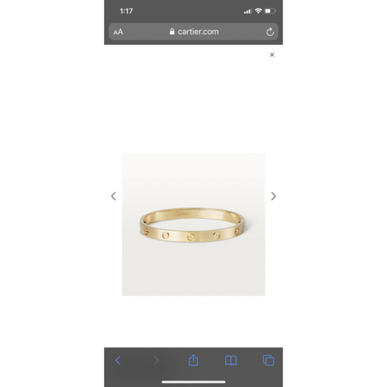 LOVE bracelet: LOVE bracelet, 18K yellow gold. Sold with a screwdriver. Width: 6.1mm.