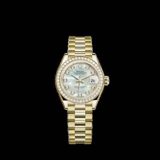 Rolex Lady-Datejust Watch: 18 ct yellow gold - m279138rbr-0015