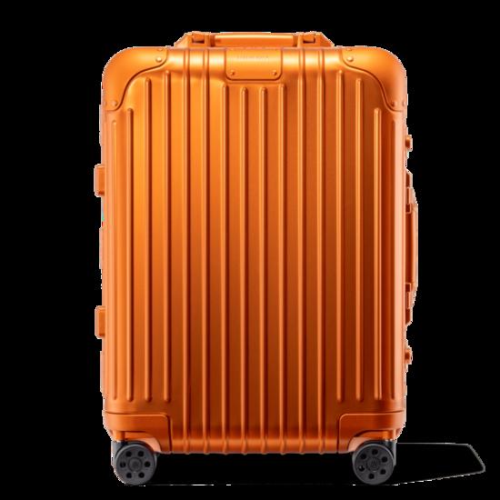 Original Cabin Aluminum Carry-On Suitcase   Mars Orange   RIMOWA