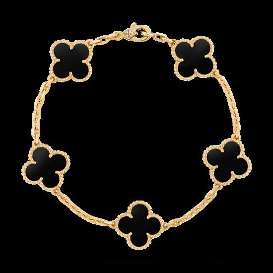 Vintage Alhambra bracelet, 5 motifs - VCARA41300 - Van Cleef & Arpels
