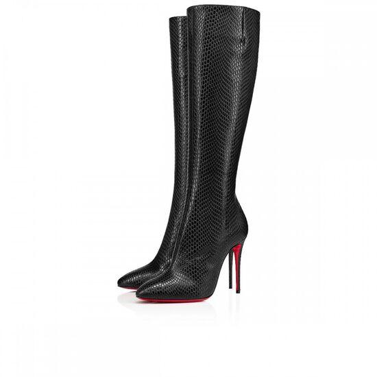 ELOISA BOTTA   100 BLACK CALF - Women Shoes - Christian Louboutin