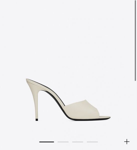 LA 16 mules in smooth leather   Saint Laurent __locale_country__   YSL.com